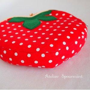 画像2: いちご&ハートのポシェット レシピ+型紙+【口金1個】のセット